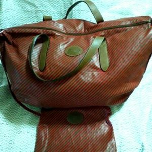 Gucci Vintage Duffle Travel Bag and Pouch